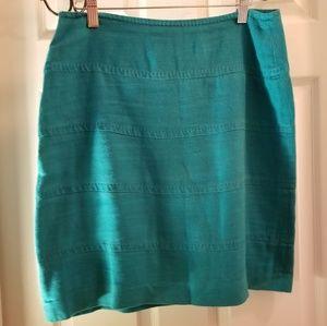 Banana Republic Sz 4 Washed Linen Mini Skirt